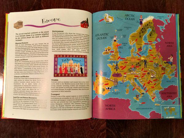 Inside our beautiful atlas.